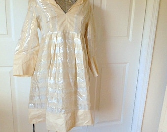 Vintage silk and gold metallic Diane von Furstenberg
