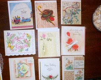 Mid Century Greeting Cards Buzza Cardozo Heart to Heart - Hallmark - Gatto - Norcross -Made in USA