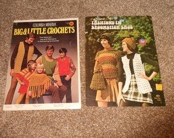 Two vintage Crochet Pattern Leaflets