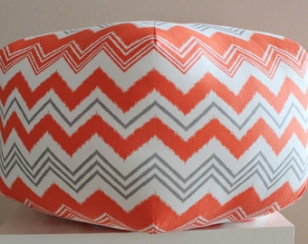 Chevron pouf / Zazzle pillow / color options  / custom chevron floor pouf - ottoman pillow - floor cushion - foot stool / Morrocan stool
