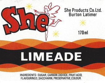 She Limeade Vintage Label, 1940s