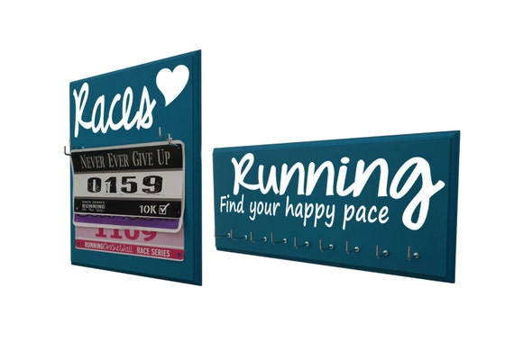 Gifts for runners, Running medal and race bib display, Holder and hanger for medals and race bibs
