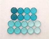 18 (9pair) 12mm Handmade Gradient Colour Photo Glass Cabochon PC682-M12