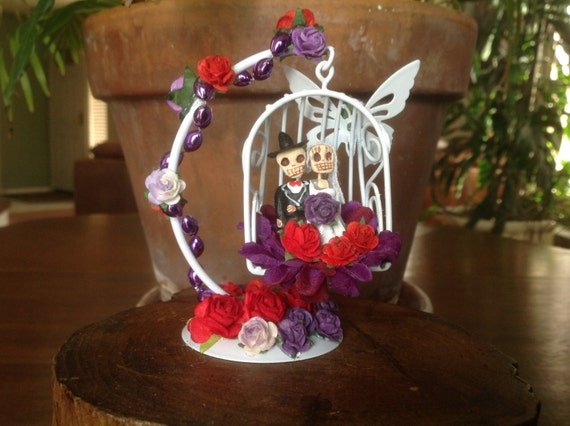 Day Of The Dead Wedding Gifts: Day Of The Dead Wedding Cake Topper Altar Piece Fun Decor