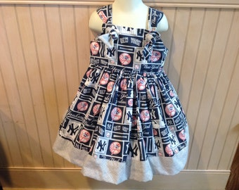 New York Yankees Boutique Knot Dress Size 2T 3T 4T 5 6 NEW