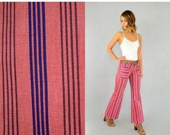 WINTER SALE 70's Stripe Bell Bottom Jeans
