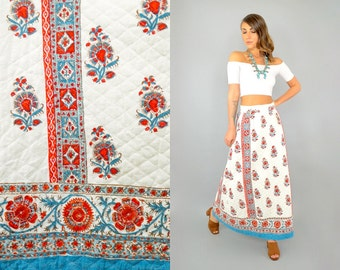 70's Ethnic QUILTED Skirt