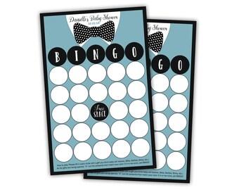 Bow Tie Baby Shower Bingo - Baby Bingo - Bowtie bingo game - baby shower game - bingo cards - boys bingo - Set of 20 cards