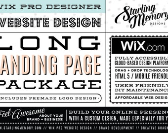 LONG LANDING PAGE Wix Website Package / Wix Website Design Package / Single Full Page Website Design / Custom Webdesign / Wix Pro Designer