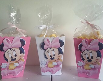 Baby Minnie Mouse Snack Boxes - Set of 10