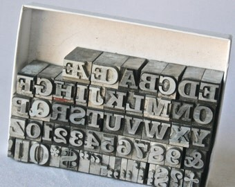 30pt Clarendon Bold Letterpress Type with Caps, Numbers and Extensive Punctuation for Printing, Stamping and Clay Stamping