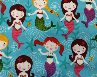 Mermaids - Quilting Cotton Fabric - BTY