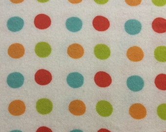 Multi Dots - Flannel Fabric - BTY