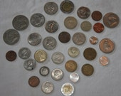 LOT of 34 FOREIGN/US Coins -Various Countries & Purities