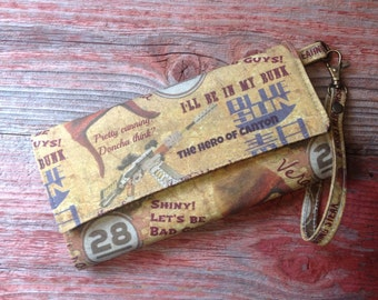 """Firefly """"Jayne""""  inspired print trifold wallet"""