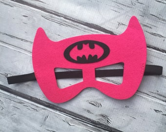 Girls Layered Batgirl Felt Mask  Batgirl Mask Superhero Mask Birthday Mask