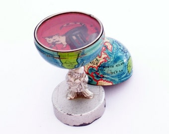 Antique World Globe Game Pencil Sharpener 1920s - VERY RARE - Free Shipping Lower 48