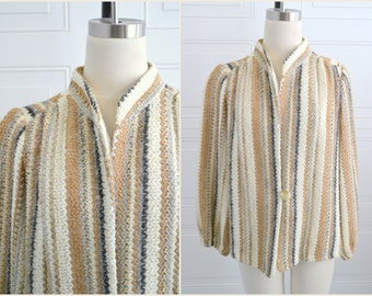 1970s Neutral Knit Jacket