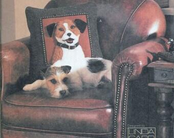 Vogue 7441 DOG Portrait Sofa Pillows Four Breeds 3D Embellished Sewing Pattern UNCUT Terrier Yellow La Pekinese
