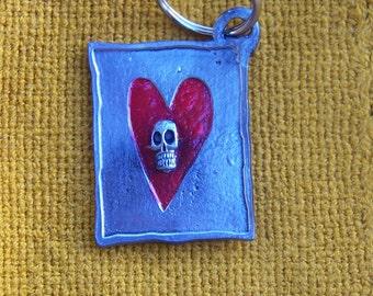 Day of the Dead Glass Skull in Sombrero Mexicano Calaca Ornament