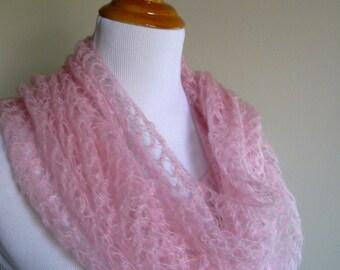 Blush Lace Scarf
