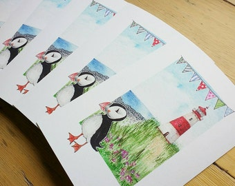 Neil the Puffin - Signed Limited Edition Print