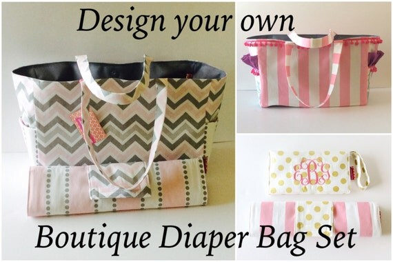 items similar to design your own boitique diaper bag changing pad diaper clutch monogrammed. Black Bedroom Furniture Sets. Home Design Ideas