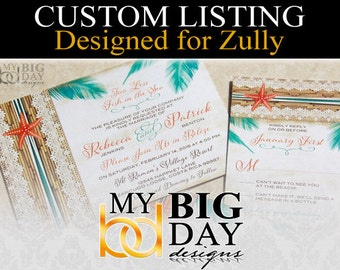 Zully's Wedding Invitation suites: 50, with white envelopes