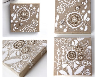 Home Decoration - Wall Art - White Art - Natural Accents for Your Home