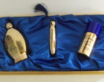 Vintage  Evening in Paris  Bourjois  Gift Set  Gilded Bottles