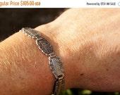 Victorian Sterling Silver Forget Me Not Flower Name Bracelet