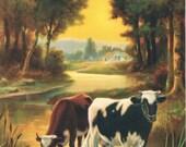 Sunsets Golden Mantle Vandervoort Calendar Art Print