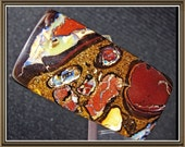 Boulder Opal  Koroit Yowah cabochon, rectangular, two sided, 35x48.6x6.5 mm, 48.12 cts.