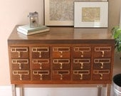 File Away... Vintage Library Card Catalog, Library File, Card Catalogue, Card File, Dewey Decimal