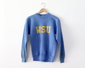 SALE vintage WSU sweatshirt, 1980s college sweatshirt