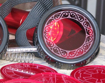 2 Color Lenses for Steampunk Welding Goggles