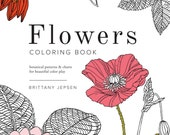 Flowers Coloring Book: Botanical patterns and charts for beautiful color play