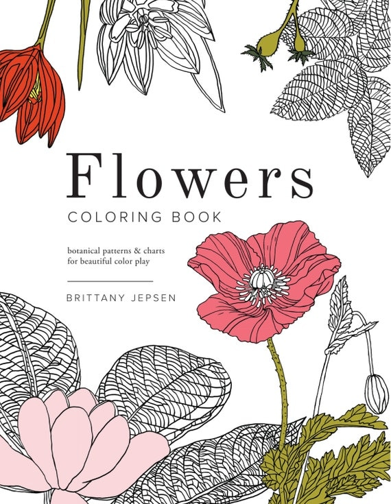 Botanical Art Coloring Book : Flowers Coloring Book: Botanical patterns and charts for