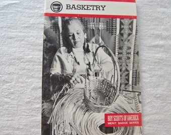 Vintage Basketry Boy Scouts Of America 1992 Merit Badge Series Weaving Baskets Caning
