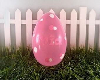 Personalized Jumbo Easter Egg, Easter Egg, Baby shower gift, Monogrammed Easter Gift, Monogrammed Easter Egg