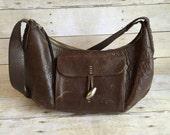Vintage Dark Brown Leather Purse