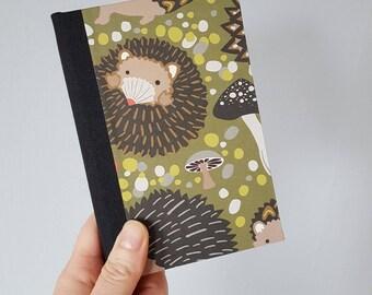 Hedgehogs Bullet Journal - Mini Sketchbook - Blank Book - Pocket Journal