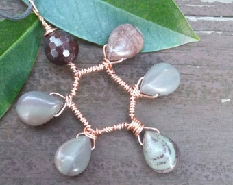 Mookaite Jasper Pendant-Copper-Jasper-Starsight Jewels-Healing Gemstones-Reiki-Chakra-Metaphysical