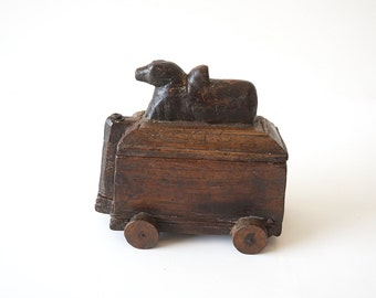 Wooden Pull Toy Nandi Antique Shipping Included