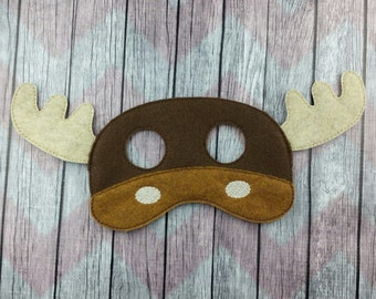 Moose felt mask, forest animal mask, children's mask