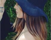 Lunar black floppy boho hat