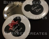 Mr. and Mrs. / His and Hers Mickey Custom Button Pins