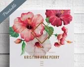 Hawaii Wedding Invitations Printable Hibiscus Wedding Invitations Printable Tropical Wedding Invitations Printable