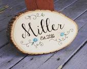 Last name sign - Wedding present - Housewarming - Established