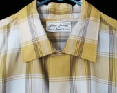 Men's Vintage Shirt - 50s Rockabilly Casual Shirt - 1950s Button Down - Long Sleeves